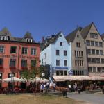 Lowenbrau Hotel/Restaurant (Blue building)