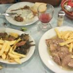 mastelo (left) lemony beef (right)