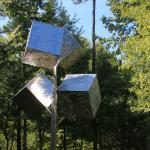 Cluster of Four Cubes wind mobile