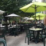 Cafe Selmarie has a lovely outdoor patio.