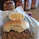 Pork BBQ Sandwich w/ Mac & Cheese