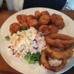 Fried Shrimp with Onion Rings