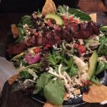 Chimi Cerdo and Steak and Avacado Salad. The salad my husband had and he LOVED! Chimi Cerdo was