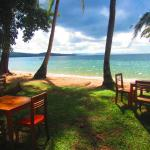 Our tables are directly on the beach overlooking the Island of Phu Quoc
