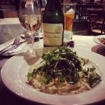 Seafood risotto with some delicious Buiten Blanc