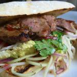 Thai Sirloin Steak Burger on Ciabatta Roll