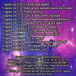 Calendario di Agosto 15 al Planetario di Anzi