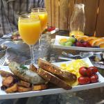Benvenuto B&B - Amazing Breakfast Day 1 (complimentary champagne for our wedding celebrations)