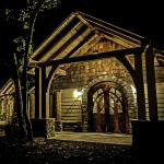 The Dancing Bear Appalachian Bistro at night.