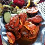 Delicious family meal....beetroot rose in salad....tandoori mix.. juicy and delicious