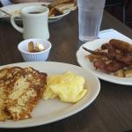 The Famous Downhill - french toast, eggs, bacon, sausage, home fries