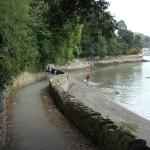 Walk from the quay in Conwy west wards