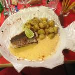 Merlu (Poisson du jour), sauce beurre blanc