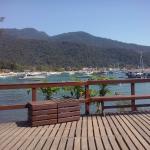 El deck del hostel