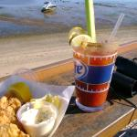 Fried Clams & a Bloody Mary just off Commercial Road, P'town.