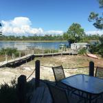 The dock/back yard