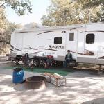 The trailer we rented. Loved it!