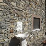 Fonte esculpida em mármore na entrada