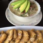 Ceviche encurtido and patacones