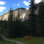 This is the view of Takakkaw Falls from the front porch!