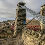 The red bridge at the edge of Ophir