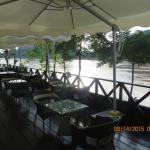 Restaurant beside the Mekong River