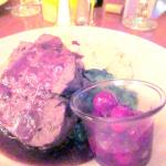 Game Meat Loaf with Mashed Cauliflower, Grant Lodge Restaurant, Yellowstone, WY