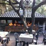 restaurantes stolthed, grillen under optændning