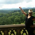 View from one of the balconies (loggia) at Biltmore Estate