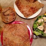 crêpes + salade + sidre brut