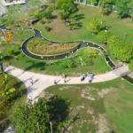 Vista a partir do observatório para o parque