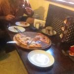 Big crispy thin pizza for Hrv100. £3