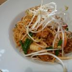 This is the dinner dish of N1 Pad Thai with Shrimp.