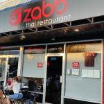 Limited seating outside at Zabb Thai restaurant.