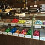 Fresh candy made in store