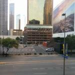 View from the front of the Dallas Marriott City Center at about 5:30 on a weekday.