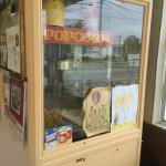 Popcorn Machine, inside the Restaurant, near the stools