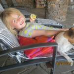 lekker relaxen bij pool en hond!