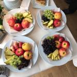 Die Obstteller der Kaffeepause während der Tagung, Genuss für Auge und Gaumen.