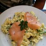 Omelette au saumon