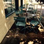 Outside bistro style dining is a good option on many days in Athens.