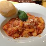 Gnocchi with mozzarella in tomato sauce