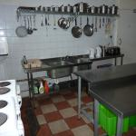 Self-catering Kitchen; sinks / cookers view.