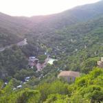 vista aerea del camping (desde giverola)