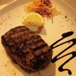 Fillet steak - cooked rare and delicious!