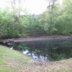 OUR POND AND CAMPING AREA..