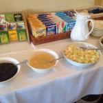 Breakfast cereal buffet