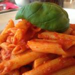 Egg-free pasta with chilli and garlic