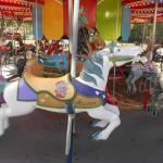 The horse Allison on the carousel at Memphis Kiddie Park in Cleveland area
