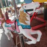 A horse on the carousel at Memphis Kiddie Park in Cleveland area